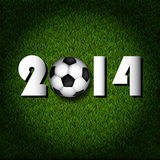 2014 football. FIFA World Cup banner in the grass royalty free illustration