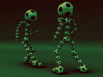 Football fight filt. Filter football fight of two contenders royalty free illustration