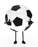 Football figure. Shows top on white background royalty free illustration