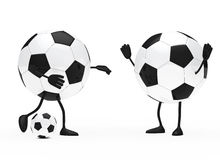 Football figure. Shoots a ball to goalkeeper vector illustration