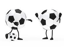 Football figure. Shoots a ball to goalkeeper Stock Image