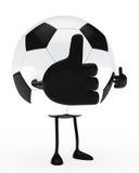 Football figure big thumb Stock Photo