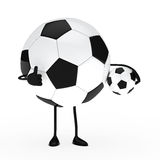 Football figure hold ball Royalty Free Stock Photography