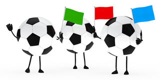 Football figure wave flags Royalty Free Stock Photo