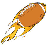 Football on fire. Cartoon illustration showing a fast football on fire Royalty Free Stock Photos