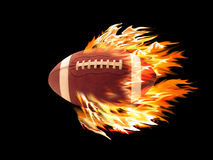 Football on fire. On a black background Royalty Free Stock Photo