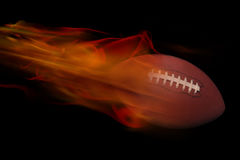 Football on Fire. Fast moving football on fire Royalty Free Stock Photography