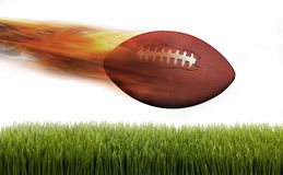 Football on Fire. Royalty Free Stock Images