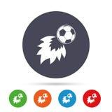 Football fireball sign icon. Soccer Sport symbol. Stock Images