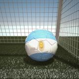 Football with flag of Argentina Stock Photos