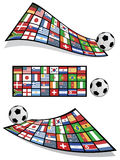 Football flag banners Stock Photography