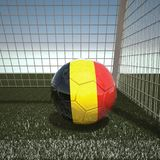 Football with flag of Belgium. 3d rendering Stock Photos