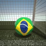 Football with flag of Brazil. 3d rendering Stock Photo