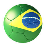Football with flag of brazil. On white background Royalty Free Stock Photography