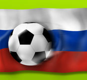 Football Flag Design Background. Creative Graphic Illustration Design Royalty Free Stock Image
