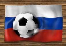 Football Flag Design Background. Creative Graphic Illustration Design Stock Image