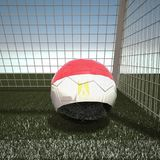 Football with flag of Egypt. 3d rendering Stock Images