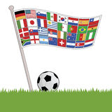 Football flag of flags Stock Photos