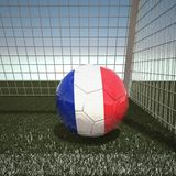 Football with flag of France. 3d rendering Stock Photography