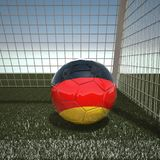 Football with flag of Germany Stock Photography