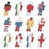 Football flag icons Stock Images