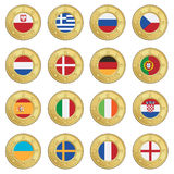 Football flag icons Royalty Free Stock Images