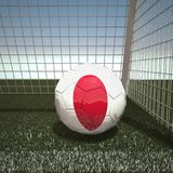 Football with flag of Japan. 3d rendering Stock Image