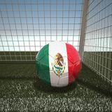 Football with flag of Mexico. 3d rendering Royalty Free Stock Images