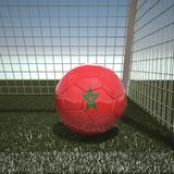 Football with flag of Morocco. 3d rendering Royalty Free Stock Images