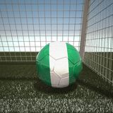 Football with flag of Nigeria. 3d rendering Royalty Free Stock Image