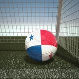 Football with flag of Panama. 3d rendering Royalty Free Stock Photography
