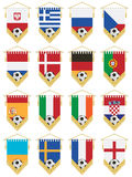 Football flag pennants vector illustration