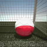 Football with flag of Poland. 3d rendering Stock Photography