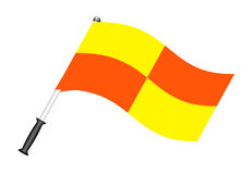 Football flag (referee flag) Stock Photos