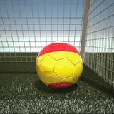 Football with flag of Spain. 3d rendering Royalty Free Stock Image