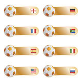 Football flag tabs Royalty Free Stock Photos