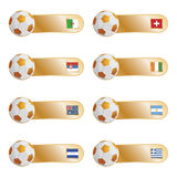 Football flag tabs Royalty Free Stock Images