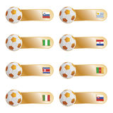 Football flag tabs Royalty Free Stock Image
