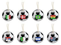 Football flag tags Stock Photos