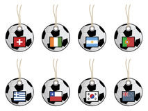 Football flag tags Stock Image