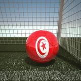 Football with flag of Tunisia. 3d rendering Royalty Free Stock Image