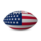 Football flag of USA isolated on white background. Stock Photos
