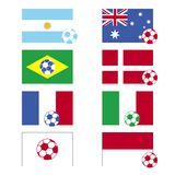 Football Flags Stock Image
