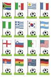 Football flags royalty free illustration