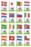 Football flags Royalty Free Stock Photo
