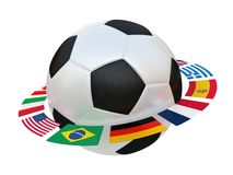 Football with flags Stock Photography