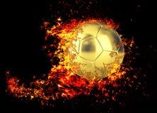 Soccer ball in flames. stock illustration