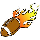 Football with Flames Royalty Free Stock Photo