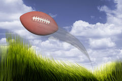 Football in Flight. Stock Images