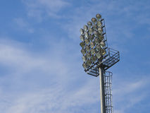 Football floodlight Royalty Free Stock Photography